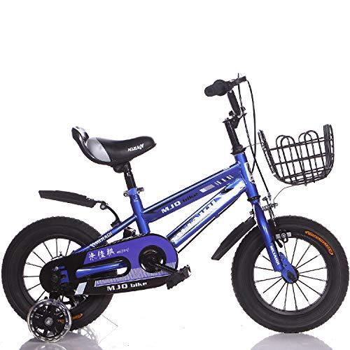 1-1 Kinder Fahrrad Verstellbare Höhe Blitz PU-Räder Mountainbike Doppelbremse Junge Mädchen Sicherheit Dämpfung 14 Zoll,Purple
