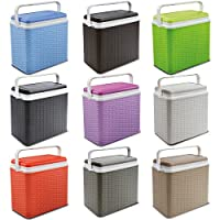ADRIATIC Large 24 Litre Cooler Rattan Box Camping Beach Lunch Picnic Insulated Food+ 2 Ice Packs 27