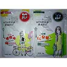 MOND'SUB Dawn Light Nourishing, Glowing and Vitality Dew Glistening Face Mask Sheets - Combo of 20