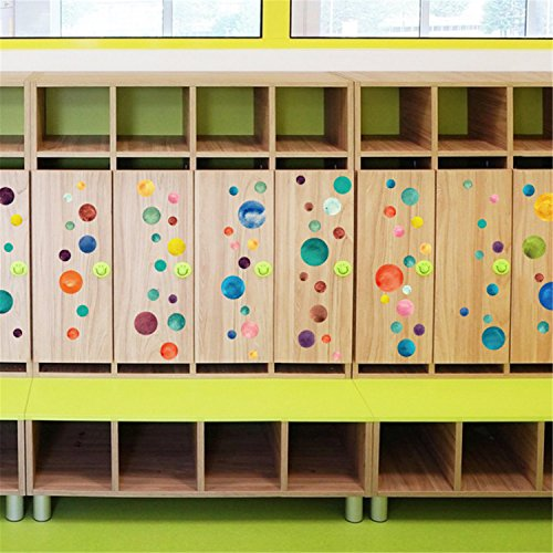 KaO0YaN Wandsticker für Kinderzimmer Farbkreis Schlafzimmer Veranda Cabinet TV Wand Glas Kindergarten Layout dekorative Wandaufkleber (Dekorative Keramik-wand-fliesen)