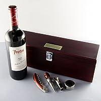 Caja 'Sumiller' con botella de vino personalizada