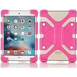 Tsmine soporte Universal a prueba de golpes suave silicona piel Funda elástica para Haehne Tablet Rose Pink Haehne Pad-1 10.1 Inch