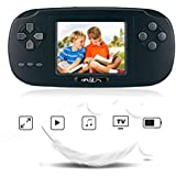 "Handheld Game Console,Rongyuxuan 2.8"" Christmas Gift Classic Portable Game Console With 168 Games,USB Portable Video Game Player (Black, 168games)"