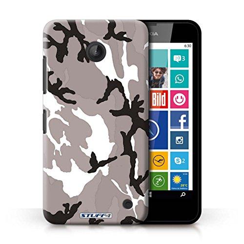 Kobalt® Imprimé Etui / Coque pour Nokia Lumia 635 / Blanc 2 conception / Série Armée/Camouflage Blanc 4