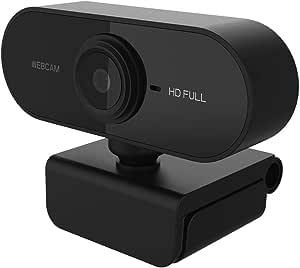 Vista Wide-Angle 90 Degree per Videochiamate//Studi//Registrazione e Giochi Webcam PC con Clip Regolabile Riduzione del Rumore Rpanle Webcam 1080P con Microfono