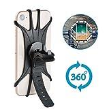 Stanbow Handyhalterung Fahrrad, Silikon Verstellbarer Motorrad Handy-Halter für iPhone X/6/7/8 Plus, Samsung Galaxy S9/S8 Plus, Anti-Shake Fahrradhalterung Mit 360 Drehen Für 3-6,0 Zoll Smartphone