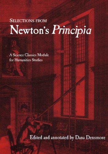 Selections from Newton's Principia