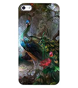 ColourCraft Beautiful Peacocks Design Back Case Cover for APPLE IPHONE 4