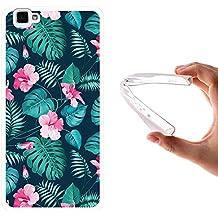 Funda Cubot X15, WoowCase [ Cubot X15 ] Funda Silicona Gel Flexible Flores Tropicales 2, Carcasa Case TPU Silicona - Transparente