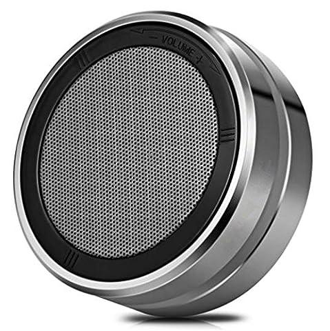 H&M Haut-parleur Bluetooth portable avec un son stéréo impressionnant Technologie de contrôle de volume rotatif Prise en charge Appels mains libres AUX, caisson de graves en métal Outdoor Mini 4.1 Bluetoo , black