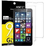 Panzerglas Nokia Microsoft Lumia 640 XL, [2 Stück] NEWC® Tempered Glass 9H Härte, Frei von Kratzern Fingabdrücken und Öl, HD Displayschutzfolie, 0.33mm Ultra-klar, panzerglas schutzfolie für Nokia Microsoft Lumia 640 XL