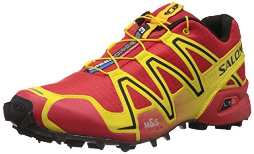 Salomon Men's Speedcross 3 Trail Running,Canary Yellow/Bright Red/Black,10.5 M US