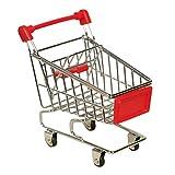 Mini Papageien Einkaufswagen Einkaufstrolley Parrot Vogel Kätzchen Hamster Kinder Spielzeug 110*80*115 mm Hotpink/Gelb/Rot