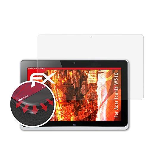atFolix Schutzfolie passend für Acer Iconia W510 Folie, entspiegelnde und Flexible FX Displayschutzfolie (2X)