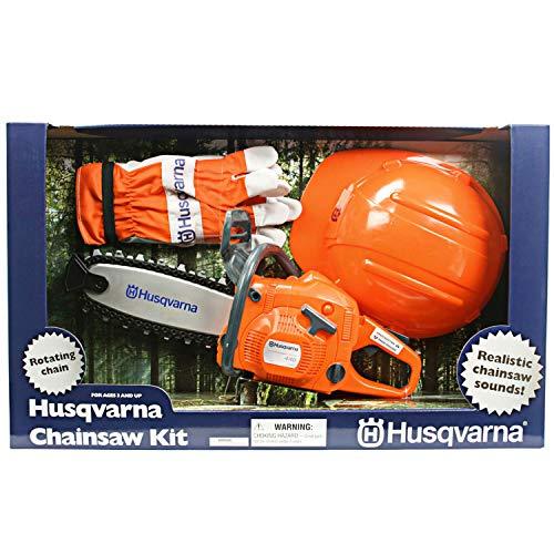Husqvarna Kindersäge Set mit Helm und Handschuhe - Kindersägen Spielset