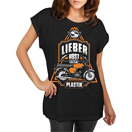 Spaß kostet Frauen und Damen T-Shirt Lieber Rost Statt Plastik Größe XS - 5XL
