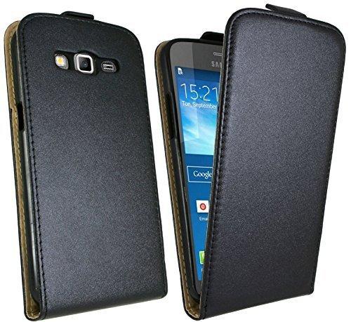 Handytasche Flip Style für Samsung Galaxy Grand 2 ( G7105 ) in Schwarz Klapptasche Hülle @ Energmix