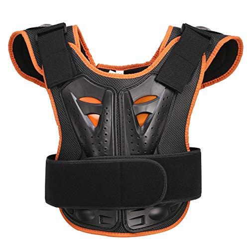 Bambini Bambini Body Armor, Ciclismo Skateboarding Petto posteriore Spine Protector Vest, Bambini Moto Giacca moto Motocross Body Guard Armatura protettiva Sport Body Armor Jacket (M, Nero)