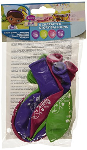 tuffins Balloon Party Accessory, Pack of 6 (Doc Mcstuffin Party Supplies)