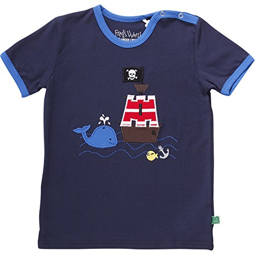 Fred'S World By Green Cotton Sailor Boat T Baby, T- T-Shirt Mixte, Bleu Marine (019392001), 98 cm