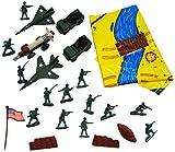 XL Set: Militär Figuren + Flugzeug + Rakete + Militärfahrzeug - mit Fahrzeugen / Kampfjet und Spielmatte - Plastiksoldaten - Militärfahrzeuge Infantrie Panzer Spielzeug Soldaten - Streitkräfte Fahrzeuge