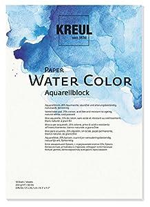 KREUL 69011-Paper Water Color, Bloc para Acuarelas, DIN A4, 10Hojas