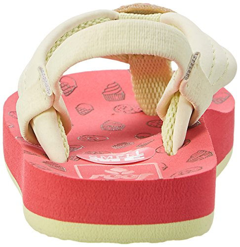 Reef Little Ahi Scents, Tongs Fille Multicolore (Donuts)