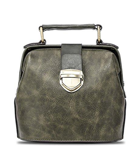 Xinmaoyuan Borse donna moda rétro sacchetto femmina Mini borsa a tracolla Verde