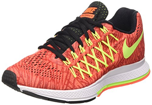 Nike Wmns Air Zoom Pegasus 32 Print Scarpe da ginnastica, Donna Multicolore (Hyper Orange/Volt-Unvrsty Red)