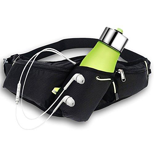 AUTOPkio Sport Trinkgürtel, Bauchtasche Gürteltasche Hüfttasche Alle Handys Unter 6 Zoll Pockets Waistpacks Outdoors für Fitness Radfahren Wandern Walking Männer und Frauen