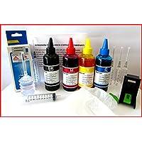 inchiostro compatibile per ricarica cartucce stampanti hp 303 + refill clip
