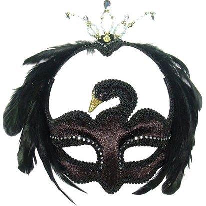 Schwarze Schwan Masquerade Maske - Erwachsene Silvester Weihnachten Maske - One (Lace Maske Red)