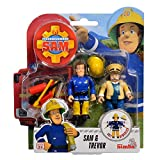 Simba Toys Sam & Trevor | Sam Il Pompiere | Set Figure da Gioco Fireman Sam