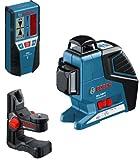 Bosch - Laser croix GLL 3-80 P + support universel BM 1 et r?cepteur laser LR 2