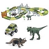 codomoxo Tracks Circuit de 2X Voitures Flexible 142 pièces, Modulable, Magic et Jeux Circuit Voiture Jouet avec Dinosaure Accessoires Ultra Fun - Vu à la TV