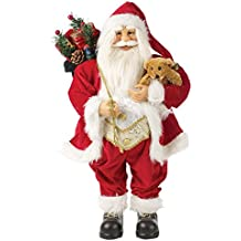 The Christmas Workshop 81450 45 cm de pie Perchero Tradicional Figura de Papá Noel, ...
