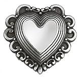 Goodman Design ® Exclusive Damen Gürtelschnalle in silber - Herz Herzform geschwungen - tolle Geschenk Idee Tracht Geburtstag Muttertag