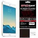 [2 Pack] TECHGEAR® Apple iPad Mini 3 / Mini 2 / Mini CLEAR Screen Protector Guard Covers with Cloth & App Card - for 1st, 2nd & 3rd Generation iPad Mini