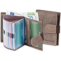 Woodland - portafoglio super-compatto con XXL tasche carte di credito per 18 carte fatte di (Portafoglio Compatto)