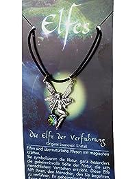 Hadas colgante de estaño con Cordón cadena y un swarovski cristal, de International connection