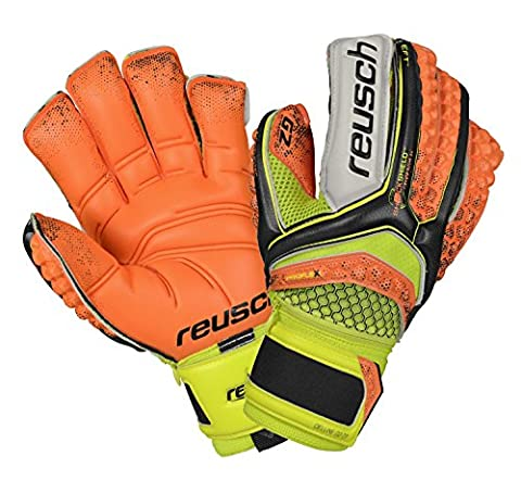 Reusch Herren Re:Pulse Deluxe G2 Ortho-Tec Torwarthandschuh, Blk/Shocking Orang, 9.5