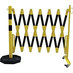 Barrier post with expanding barrier ,round tubing Ø 60 mm, with mobile foot plate   10