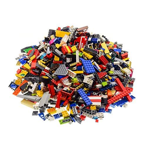 LEGO 2 Kg System BAU Steine ca. 1500 Teile Kiloware bunt gemischt mit Sonderteilen z.B. Fenster Platten Tiere Räder