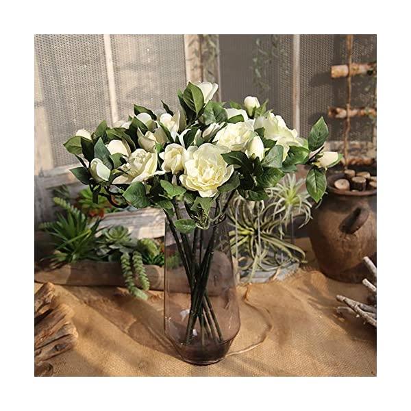Ukallaite – Ramo de Flores Artificiales para decoración del hogar y 1 Pieza de Camelia Artificial, decoración para Bodas…