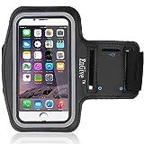 EnGive Sportarmband iPhone 6 Plus Armband (5.5 Zoll) Fitness Armbinde Joggen Schutzhülle Armtasche (iPhone 6 Plus, schwarz)