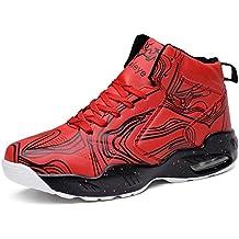 LANSEYAOJI Zapatillas de Baloncesto Hombre Moda Zapatillas de Deporte Ligeros Zapatos de Correr Al Aire Libre