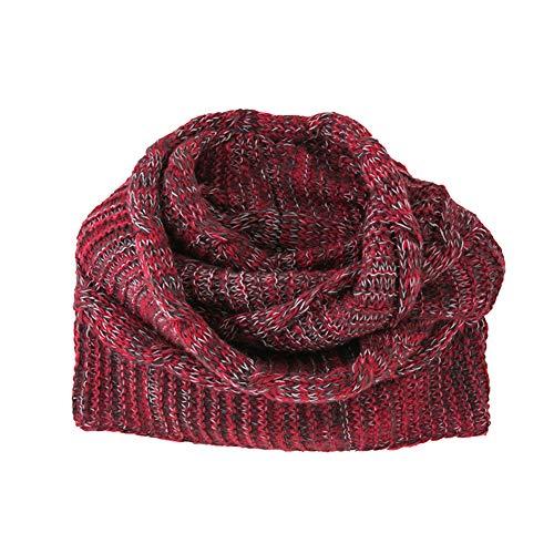 Ttstr autunno inverno caldo infinito sciarpa per donne studenti a maglia cerchio sciarpa collare moda morbido di spessore sciarpe per natale compleanno festa regalo