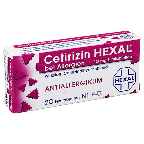 Cetirizin Hexal 10 mg Tabletten, 20 St.