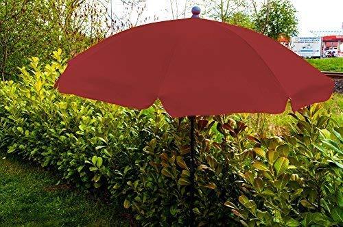 1a-Handelsagentur Sonnenschirm mit Knickgelenk Versch. Farben 2m (Lila)