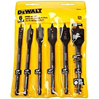 Upper Woodworking Hole Hex Handle Three-Point Flat Drill bit 1 Set (6 Pieces)